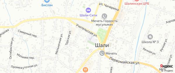 Улица Победы на карте Шали с номерами домов