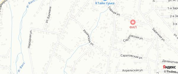 Рязанская улица на карте Шали с номерами домов