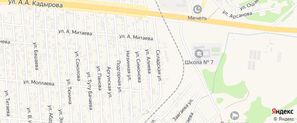 Улица И.Алиева на карте Аргуна с номерами домов