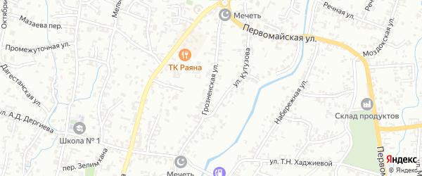 Грозненская улица на карте Шали с номерами домов