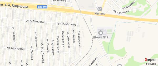 Складская улица на карте Аргуна с номерами домов