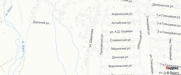 Улица Горького на карте Шали с номерами домов