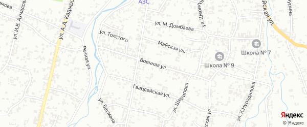 Городок Военная часть на карте Шали с номерами домов