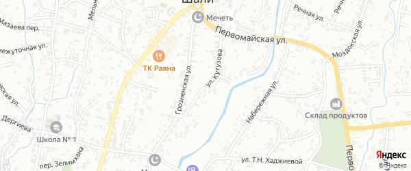 Улица Кутузова на карте Шали с номерами домов