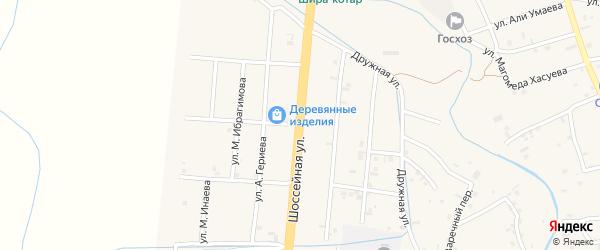 Шоссейная улица на карте села Герменчук с номерами домов