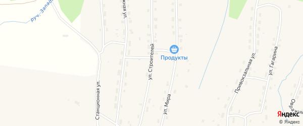 Улица Строителей на карте Удимского поселка с номерами домов