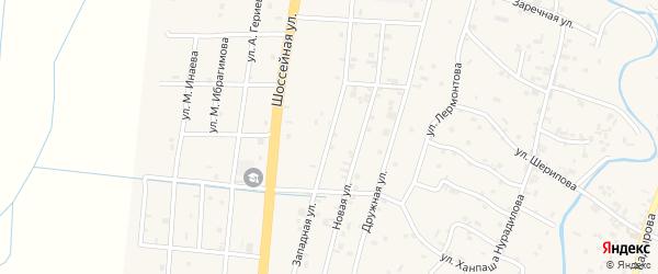 Западная улица на карте села Герменчук с номерами домов
