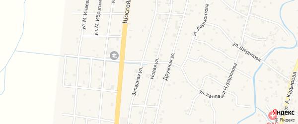 2-й Дружный переулок на карте села Герменчук с номерами домов