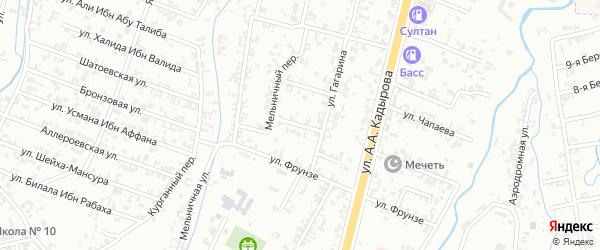 Переулок Гагарина на карте Шали с номерами домов