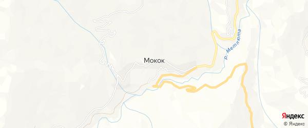 Карта села Мокока в Дагестане с улицами и номерами домов