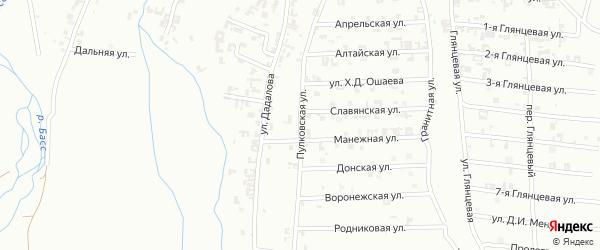 Пулковская улица на карте Шали с номерами домов