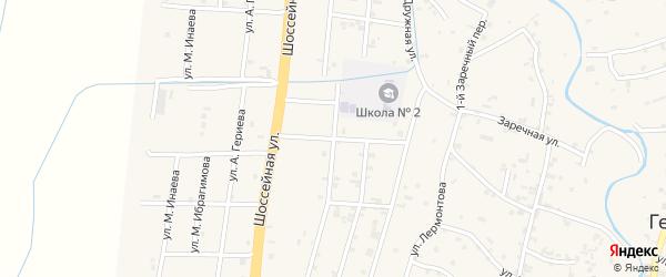 4-й Дружный переулок на карте села Герменчук с номерами домов