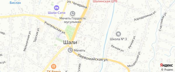 Улица Орджоникидзе на карте Шали с номерами домов