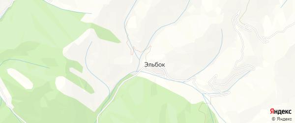 Карта села Эльбка в Дагестане с улицами и номерами домов
