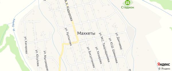 Улица Ш.Абуханова на карте села Махкеты с номерами домов