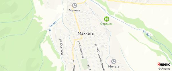Карта села Махкеты в Чечне с улицами и номерами домов