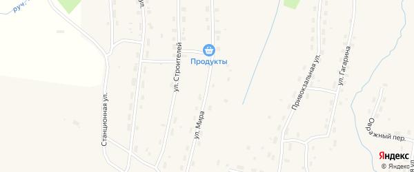 Улица Мира на карте Удимского поселка с номерами домов
