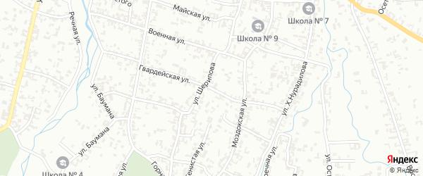 Гвардейская улица на карте Шали с номерами домов