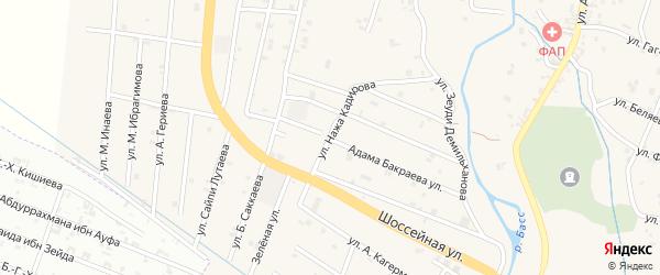 Улица Нажа Кадирова на карте села Герменчук с номерами домов