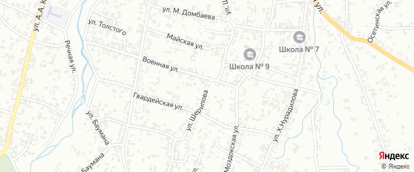 Улица А.Шерипова на карте Шали с номерами домов