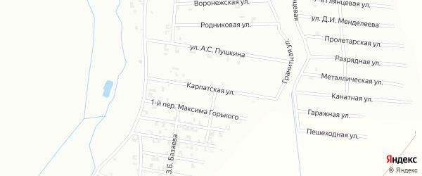Карпатская улица на карте Шали с номерами домов