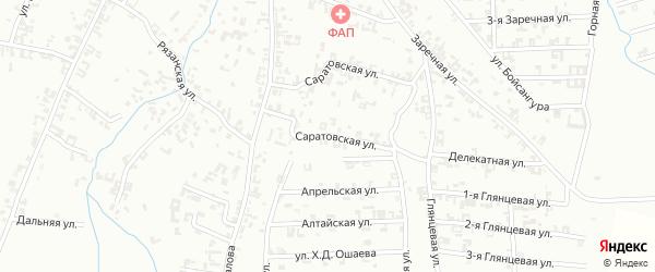 Саратовская улица на карте Шали с номерами домов