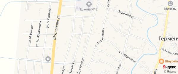 Дружная улица на карте села Герменчук с номерами домов