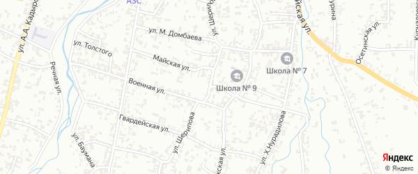 Майская улица на карте Шали с номерами домов