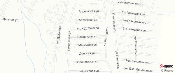 Славянская улица на карте Шали с номерами домов