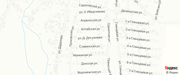 Улица Д.Догужиева на карте Шали с номерами домов