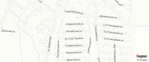 Алтайская улица на карте Шали с номерами домов