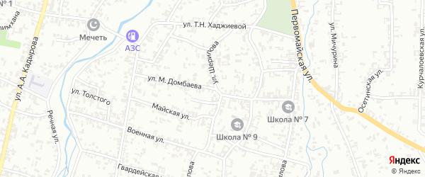 Улица М-С.Шамсудова на карте Шали с номерами домов