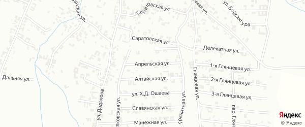 Апрельская улица на карте Шали с номерами домов