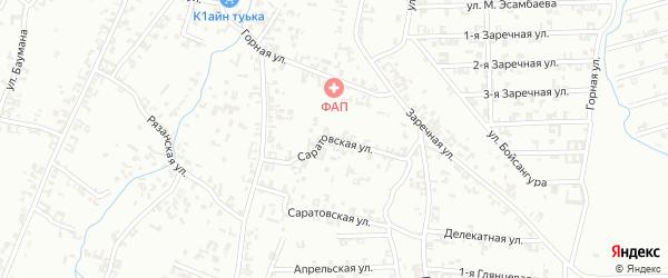 Цветочная улица на карте Шали с номерами домов