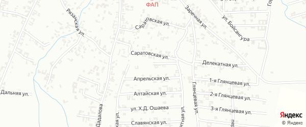 Улица К.Х.Ибрагимова на карте Шали с номерами домов