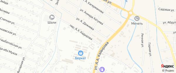 Улица Лабаза Акмурзаева на карте села Герменчук с номерами домов