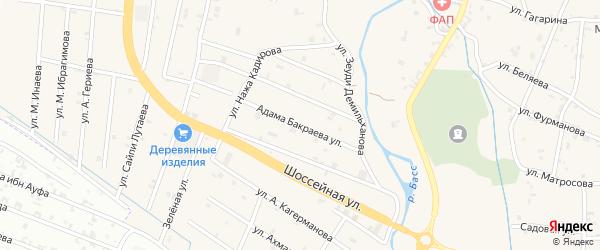Улица Адама Бакраева на карте села Герменчук с номерами домов