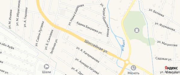 Улица Хамзатхана Визиева на карте села Герменчук с номерами домов