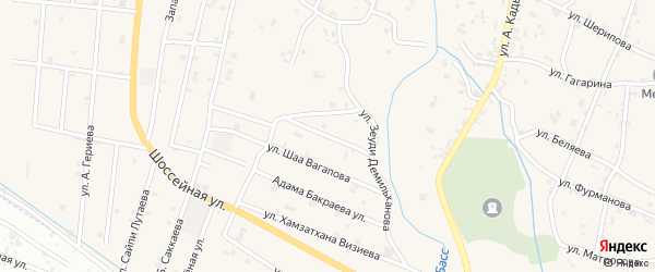 Улица Бауди Юсупова на карте села Герменчук с номерами домов
