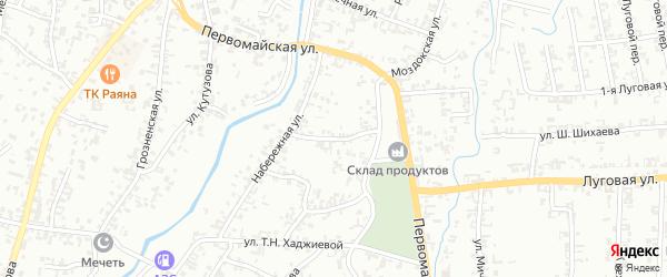 Уральская улица на карте Шали с номерами домов