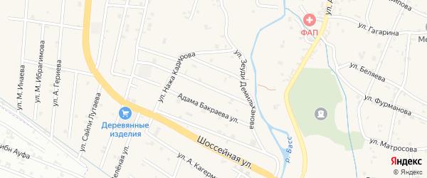 Улица Шаа Вагапова на карте села Герменчук с номерами домов