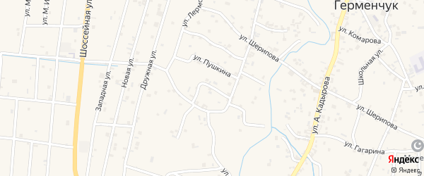 Переулок Ханпаша Нурадилова на карте села Герменчук с номерами домов