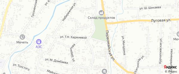 Моздокская улица на карте Шали с номерами домов