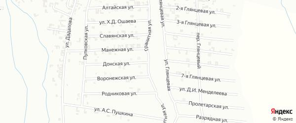 Гранитная улица на карте Шали с номерами домов