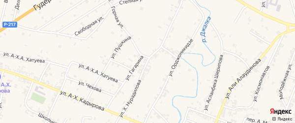 Улица Х.Нурадилова на карте села Мескер-Юрт с номерами домов