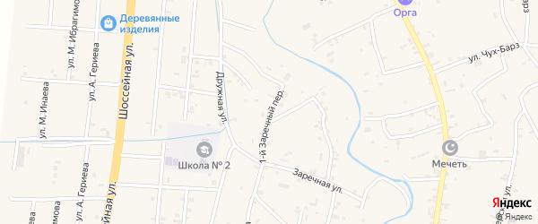 1-й Заречный переулок на карте села Герменчук с номерами домов