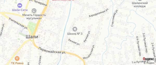 Речная улица на карте Шали с номерами домов