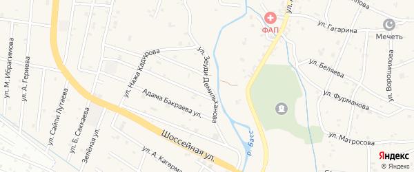 Улица Зеуди Демильханова на карте села Герменчук с номерами домов