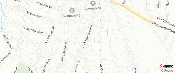 Улица Х.Нурадилова на карте Шали с номерами домов