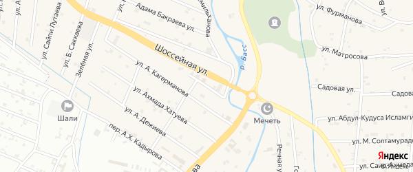 Улица Халида Бетиева на карте села Герменчук с номерами домов